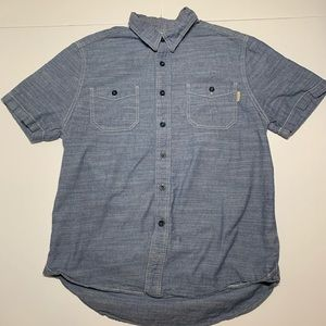 Woolrich Button Up Short Sleeve Mens Medium